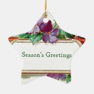 Christmas Season's Greetings Vintage Inspired Christmas Tree Ornaments