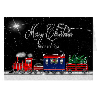 Christmas - SECRET PAL - Snowy Night-Train Card