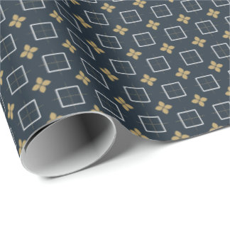 Christmas Series: Golden Poinsettia. Wrapping Paper