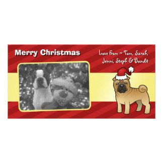Christmas Shar Pei Custom Photo Card