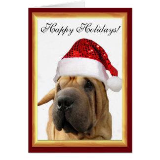 Christmas Shar Pei dog Card
