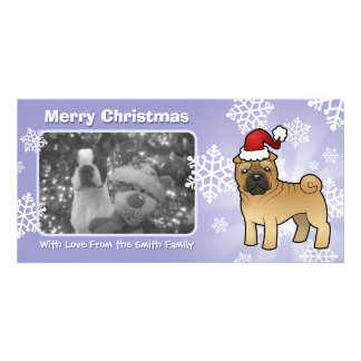 Christmas Shar Pei Photo Cards