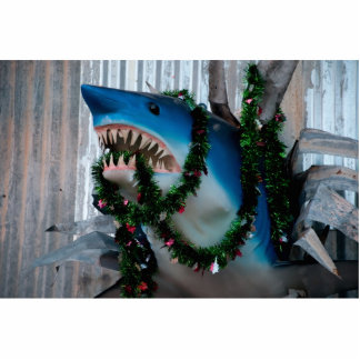 Christmas Shark photosculpture Standing Photo Sculpture