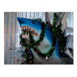 Christmas Shark postcard
