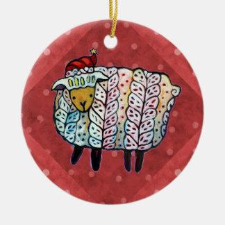 Christmas Sheep Tree Ornament