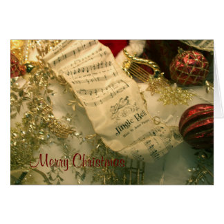 Christmas Sheet Music-Jingle Bells Card