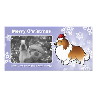 Christmas Shetland Sheepdog / Collie Custom Photo Card