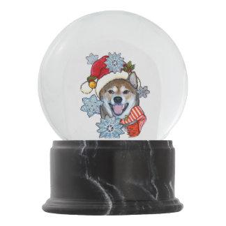 Christmas Shiba Inu Santa Doge Wow Snow Globe