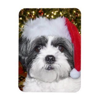 Christmas Shih Tzu Dog Magnet