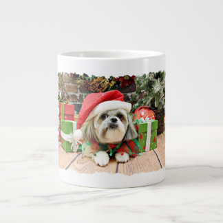 Christmas - Shih Tzu - Gizmo Jumbo Mugs