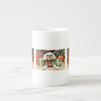 Christmas - Shih Tzu - Kobe Porcelain Mugs
