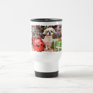 Christmas - Shih Tzu - Marley Travel Mug