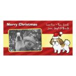 Christmas Shih Tzu (puppy cut) Personalised Photo Card