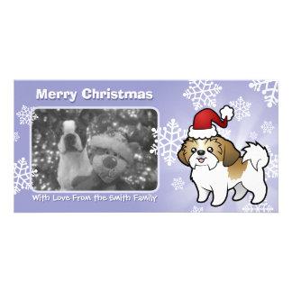 Christmas Shih Tzu (puppy cut) Photo Greeting Card