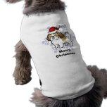 Christmas Shih Tzu (puppy cut) Sleeveless Dog Shirt