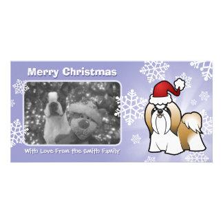Christmas Shih Tzu (show cut) Personalised Photo Card