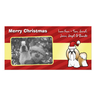 Christmas Shih Tzu (show cut) Picture Card