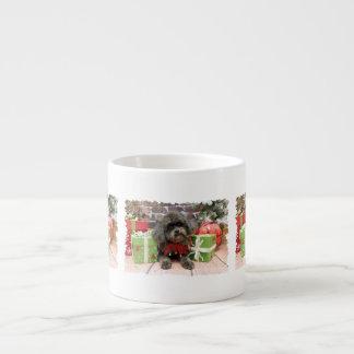 Christmas - Shih Tzu X - Maggie Espresso Cups
