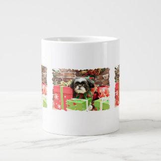 Christmas - Shih Tzu - Yogi Jumbo Mugs
