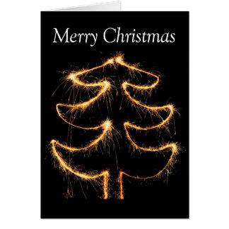 Christmas shiny tree card