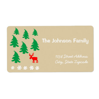 christmas shipping label