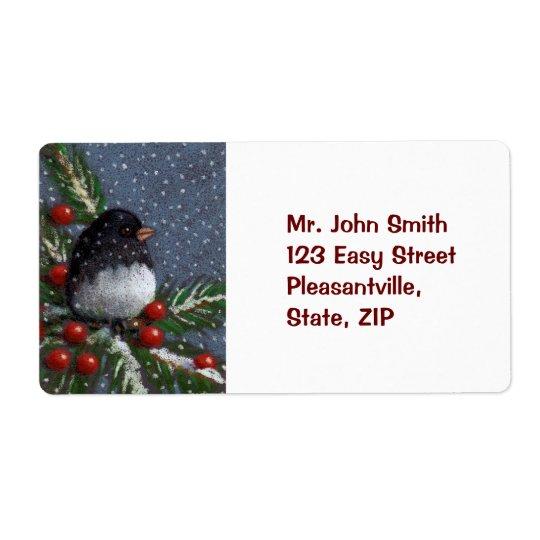 CHRISTMAS SHIPPING LABEL: BIRD, ARTWORK SHIPPING LABEL