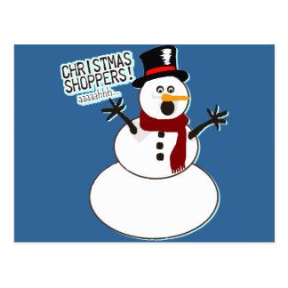 Christmas Shoppers! Postcard