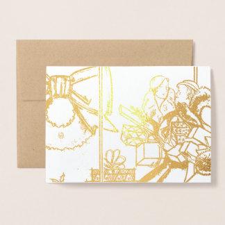 Christmas Shopping Foil Card