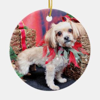 Christmas - Shorkie - Charlie Ceramic Ornament