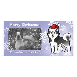 Christmas Siberian Husky / Alaskan Malamute Customized Photo Card