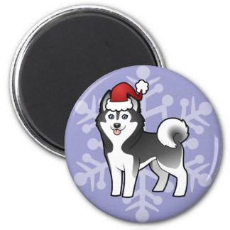 Christmas Siberian Husky / Alaskan Malamute Magnets