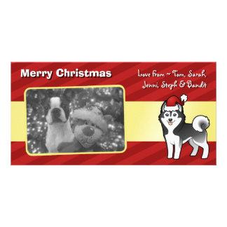 Christmas Siberian Husky / Alaskan Malamute Personalized Photo Card