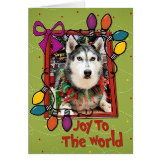 Christmas - Siberian Husky - Nika Greeting Cards