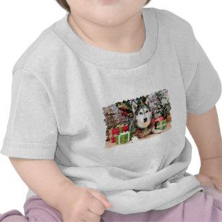 Christmas - Siberian Husky - Nika T-shirts