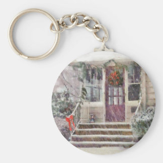 Christmas - Silent Day Basic Round Button Key Ring