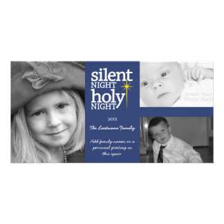 Christmas - Silent Night - 3 photo collage Card