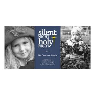 Christmas - Silent Night Holy Night - Customised Photo Card