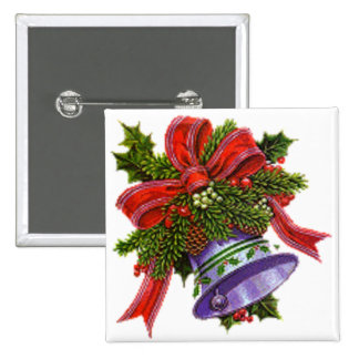 Christmas Silver Bell Buttons