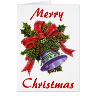 Christmas Silver Bell Card