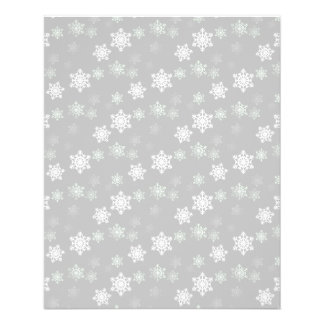 Christmas Silvery White Snow Flurries Full Color Flyer