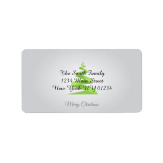 Christmas Simple Ribbon Christmas Tree Address Label