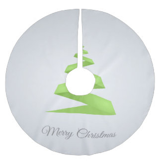 Christmas Simple Ribbon Christmas Tree Brushed Polyester Tree Skirt