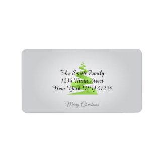 Christmas Simple Ribbon Christmas Tree Label