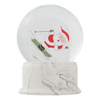 Christmas Skier Snow Globe