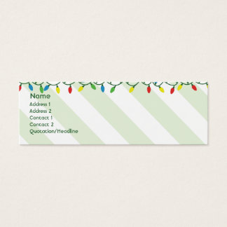 Christmas - Skinny Mini Business Card