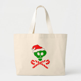 Christmas Skull and Crossbones Tote Bag