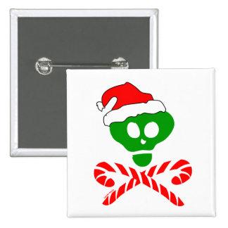 Christmas Skull Crossbones 15 Cm Square Badge