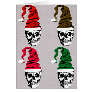 Christmas Skull Custom Card