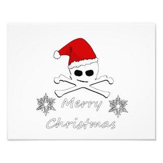 Christmas Skull Photograph