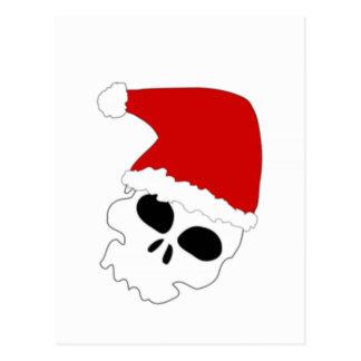 Christmas Skull Postcard